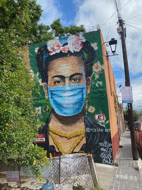San Miguel de Allende masked Frida Kahlo mural